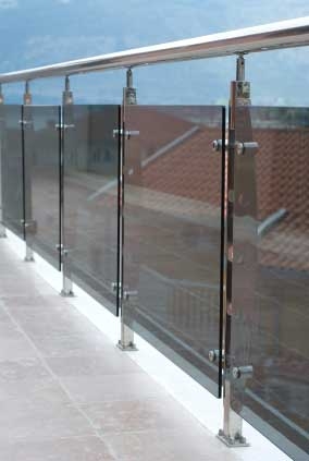 Laminated or toughened glass is required for balustrades.