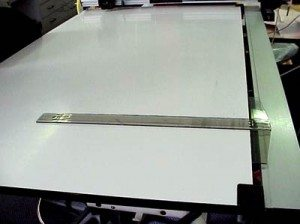 drafting equipment - t square and drawing board