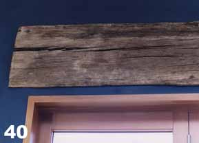 This is a close up of a bridge beam lintel set into the wall.