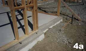 concrete foundation, timber framing